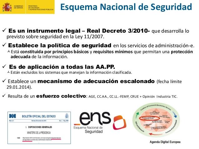 Adaptación al ENS - Esquema Nacional de Seguridad